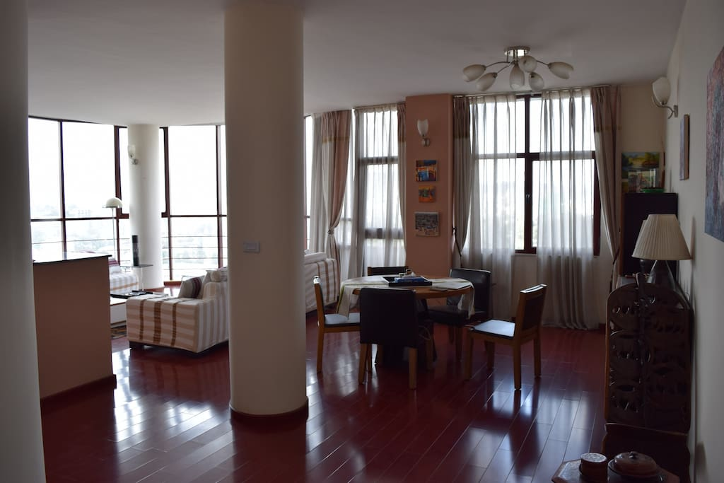 Spacious and light filled common area