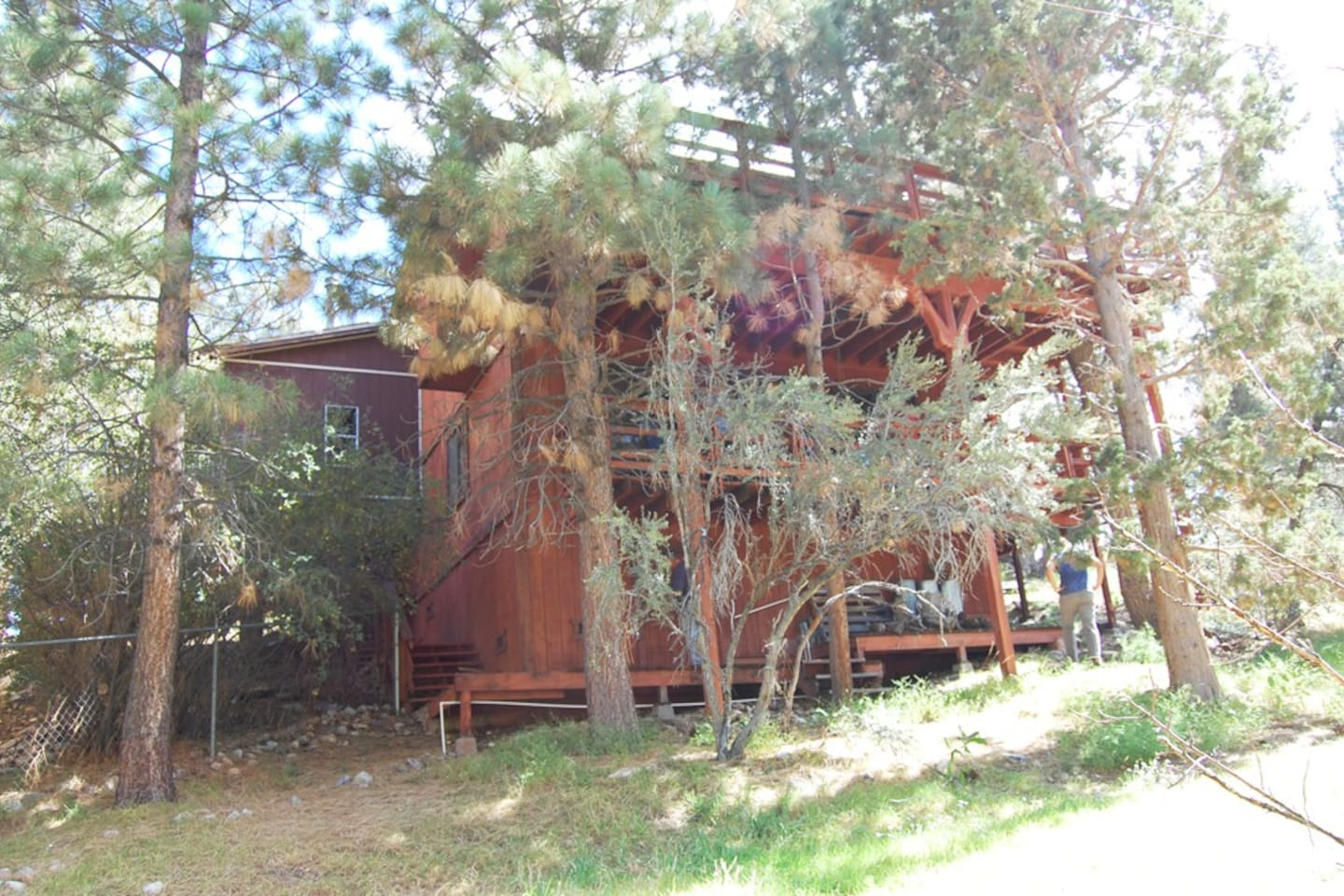 Rear view of Cabin