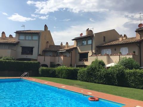 """Apartment in the residence """"Il Borgo di Capalbio"""""""