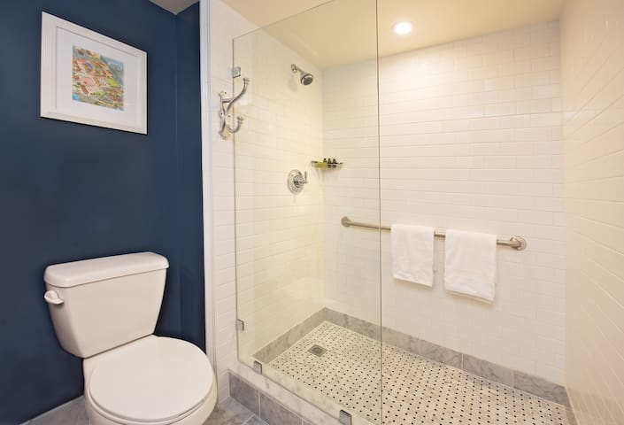 Guestroom Bathroom -  note that some bathrooms have tubs but most are showers