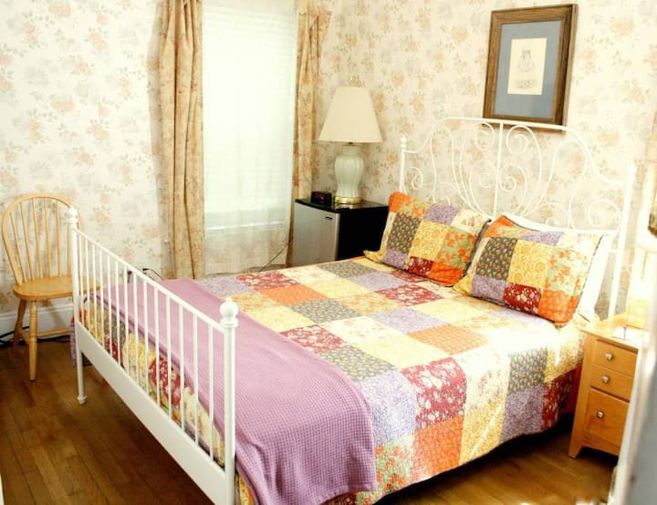 Queen Room in quiet, safe, cool Coolidge Corner