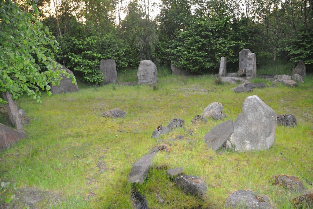 Standing stones located around HopeWell