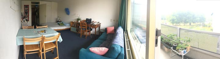 Studio in green area, 15 min walk from the station