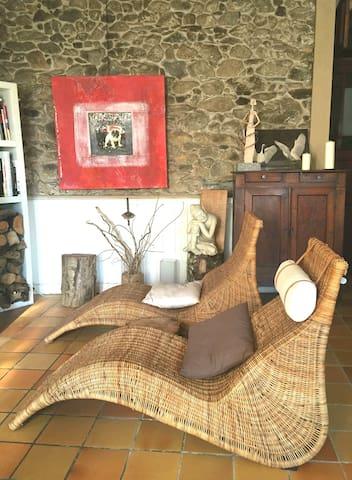 Chambre d'hôtes   Au détour du Larrech, - Castillon-en-Couserans - 家庭式旅館