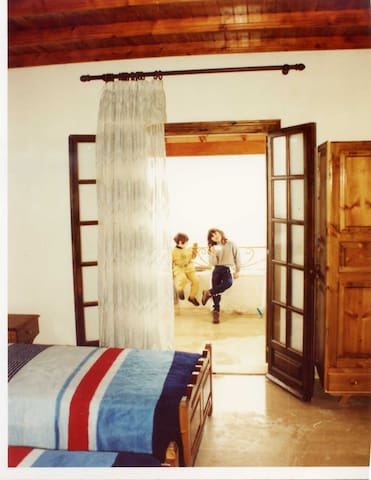 Bedroom with two single bets