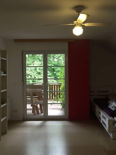 Zimmer mit Ausblick im schönen Seitenstetten