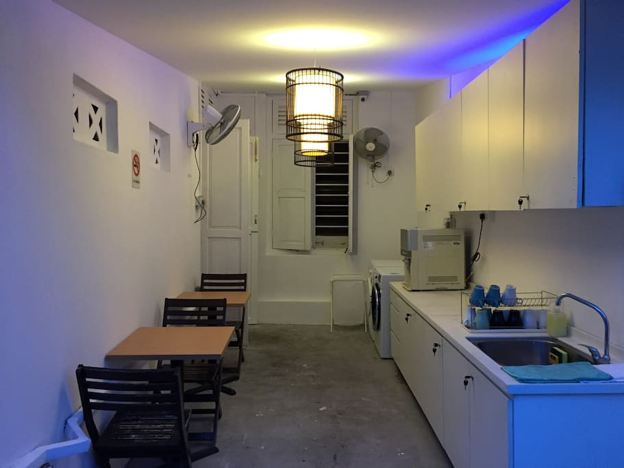 Our pantry and patio area