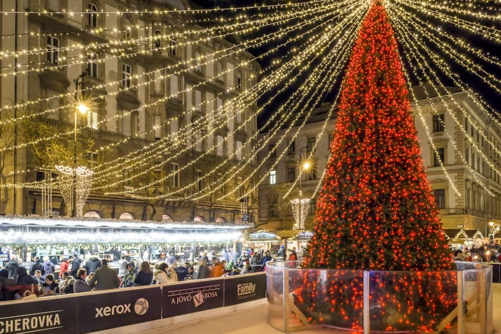 Traditional Christmas Market in Budapest