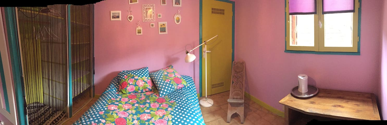La chambre rose - Bozel - House