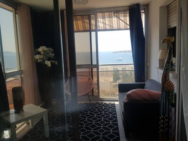 vue exeptionnel sur tout  le golfe d Ajaccio