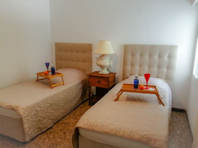 The Single beds