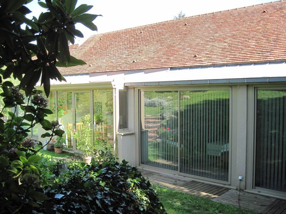 les 3 chambres donnent de plain pied sur le jardin