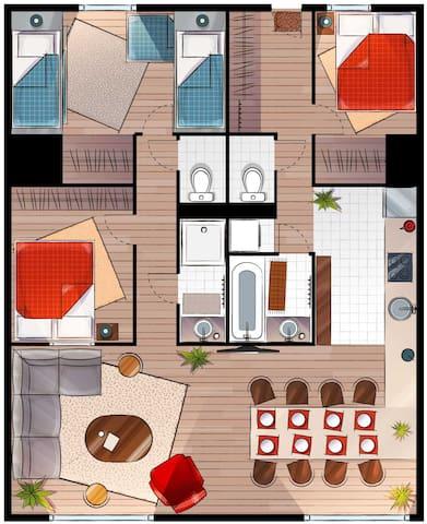 Plan de l'appartement HOME BELLE PLAGNE