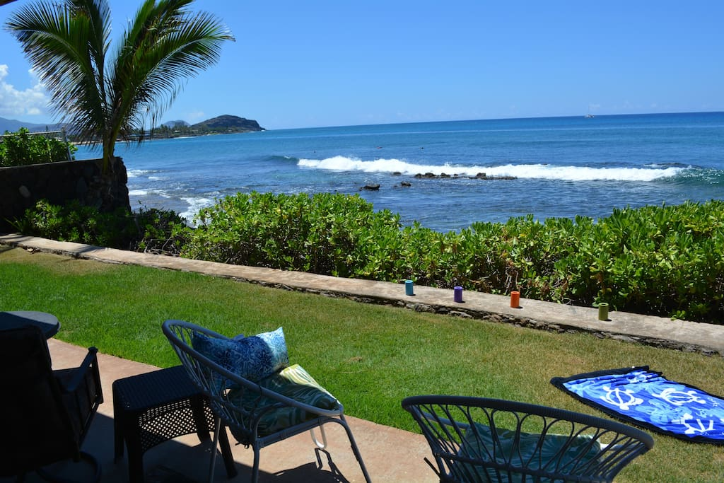 The view from the lanai is mesmerizing.