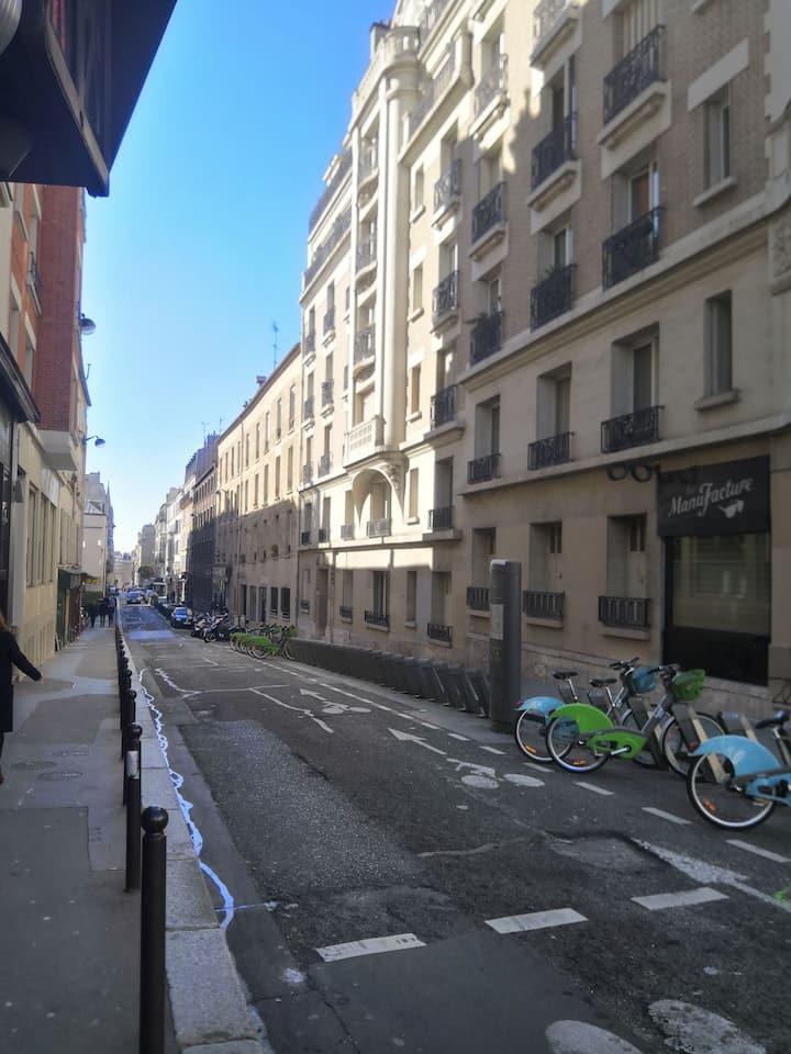 Cosy studio Bastille République Père lachaise