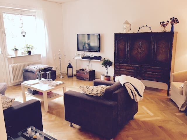 Apartment (60 sq.m) near Stockholm with a balcony