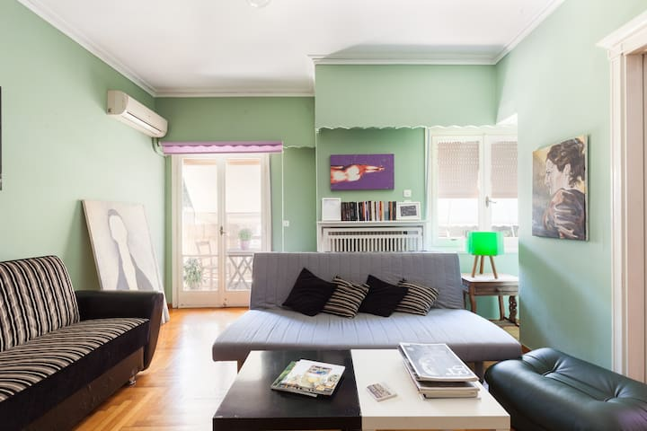 Large Artistic Cosy Apartment Central Athens - Athina - Lägenhet
