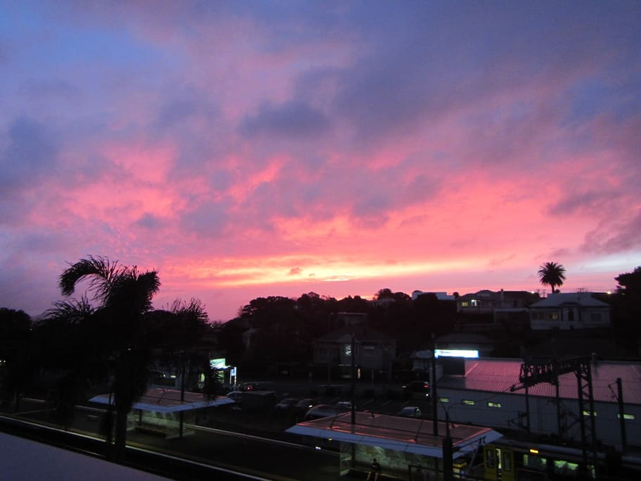 Sunset from the terrace.