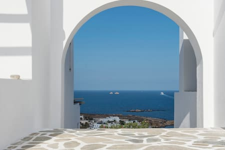 FOS retreat, pool, stunning seaview, near beaches - Paros - Villa