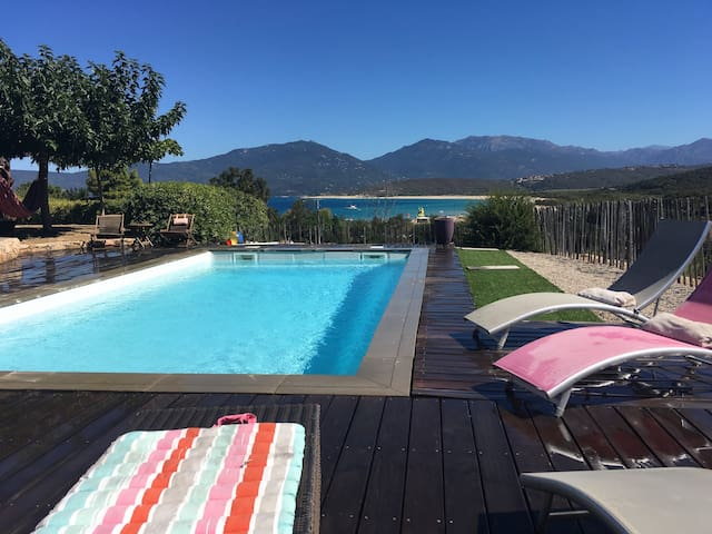 villa T4, 100 m de la plage, piscine, vue mer - Propriano - Villa