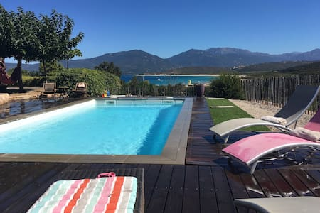 villa T4, 100 m de la plage, piscine, vue mer - Propriano