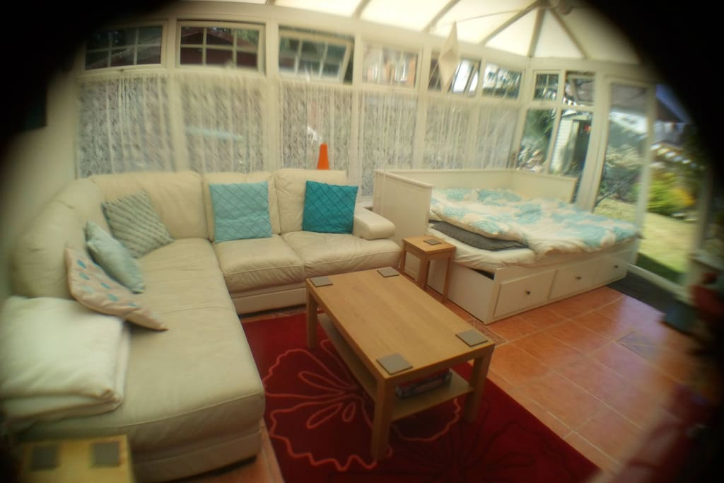 Seating area in the conservatory