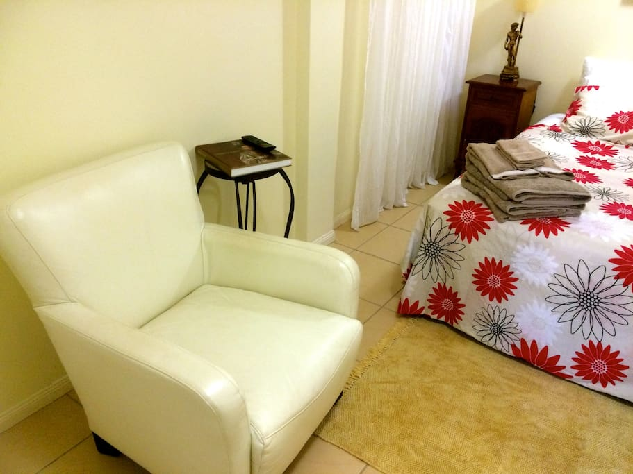 Light, Bright, Comfortable, Air Conditioned Queen Room