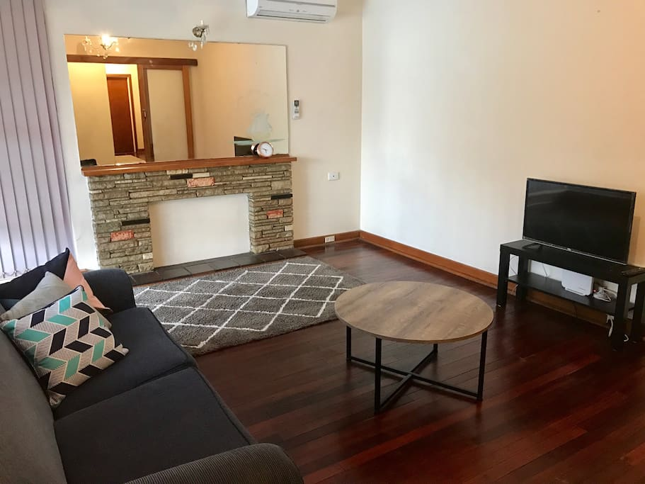 Spacious living space with reverse cycle air-conditioning.