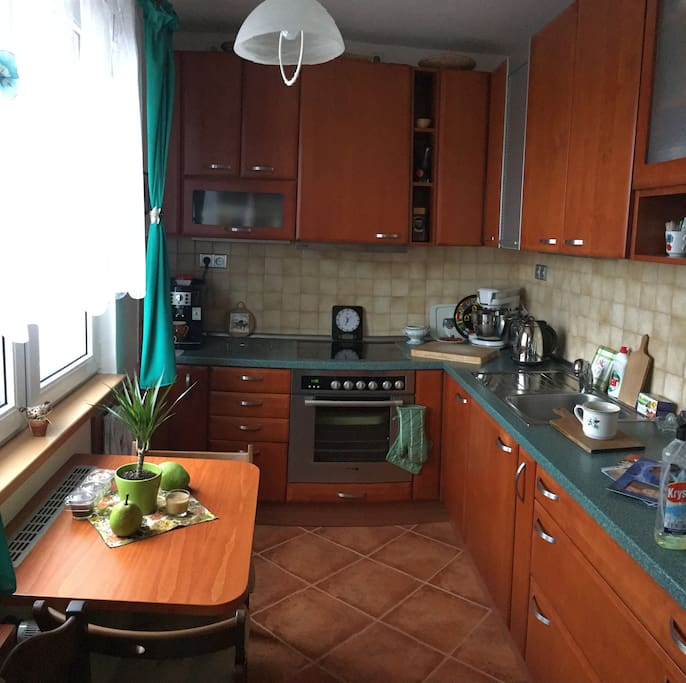 Fully equiped and large kitchen