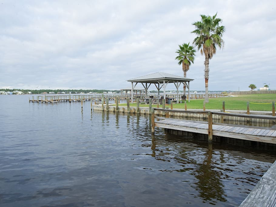 Launch kayaks on the lagoon or fish from the pier, just steps from your condo.
