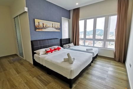 Master Bedroom with attached Bathroom; 1 Queen Bed & 1 Single Bed