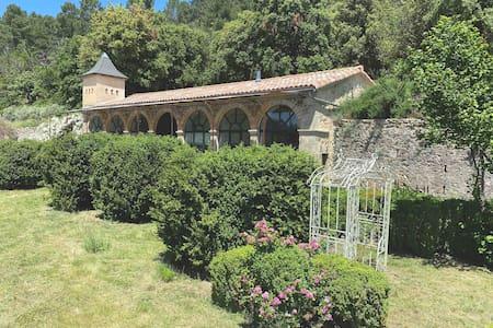 South >Orangerie de Logères>Swim.Pool in June>View