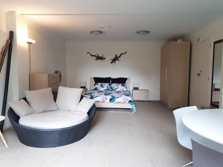 Studio with Private Bathroom, Omata, New Plymouth