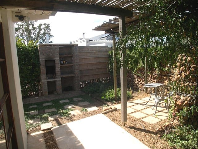 Private little garden with braai area