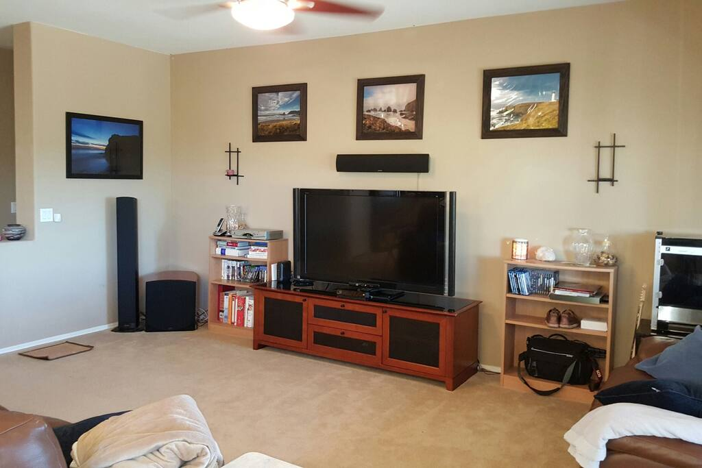 Watch some TV and relax or watch a movie in Surround sound in 3d, or even Ultra HD.
