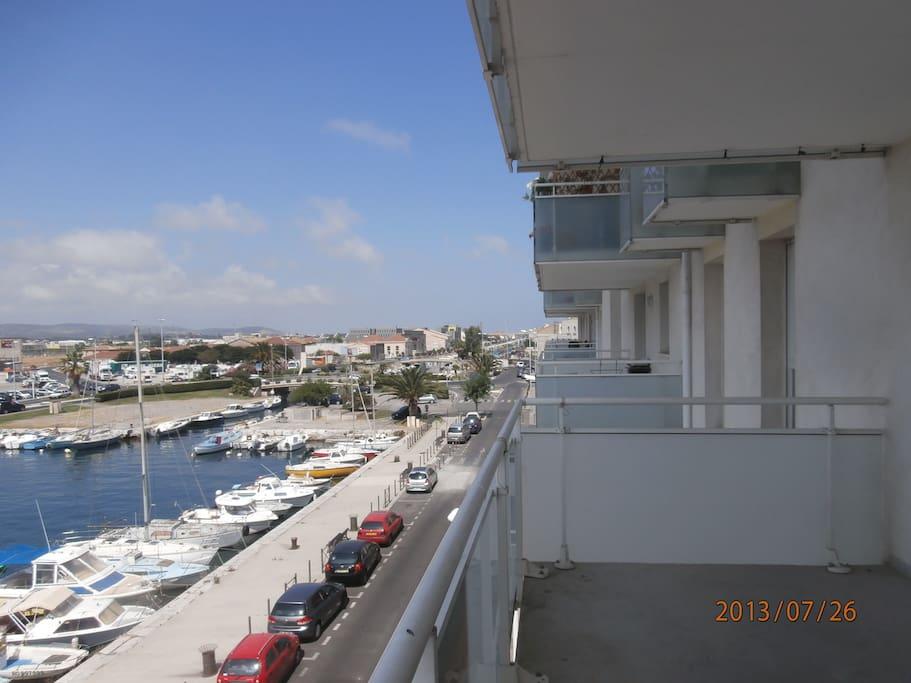 vue de droite de la terrasse