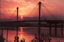2 minutes from the world famous Clark Bridge across the Mississippi