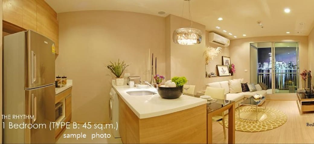 MRT_HuaiKhwang 1min/ Luxury comfortable High condo