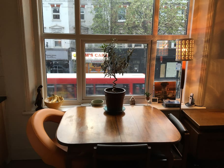 A great spot to sit over a long breakfast enjoying the view of Stoke Newington street life