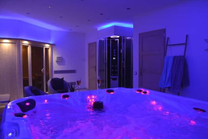 Gîte ****, espace bien-être privatif, spa & sauna