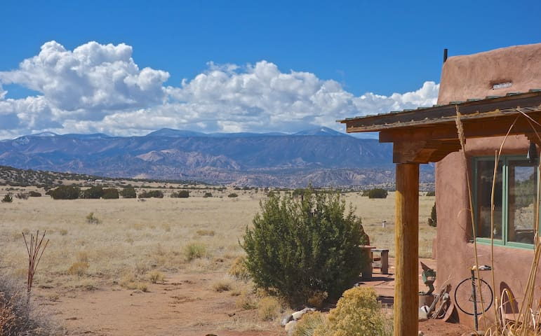 View to the southwest, the Jemez Mountains