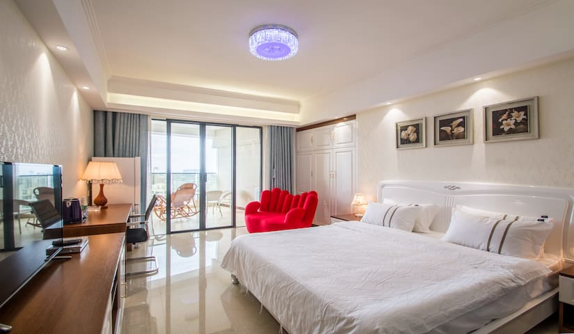 高层豪华海景大床房 - Beihai - Apto. en complejo residencial
