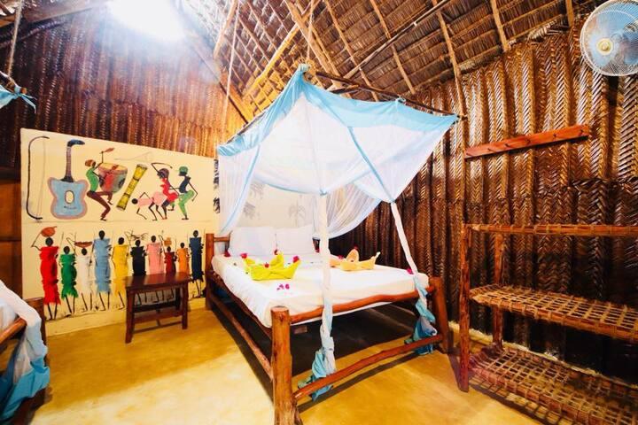Mnana Beach Bungalows Family Room