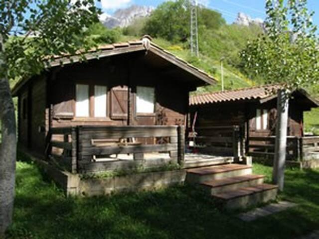 Wood cabin in Ruta del Cares. Picos de Europa
