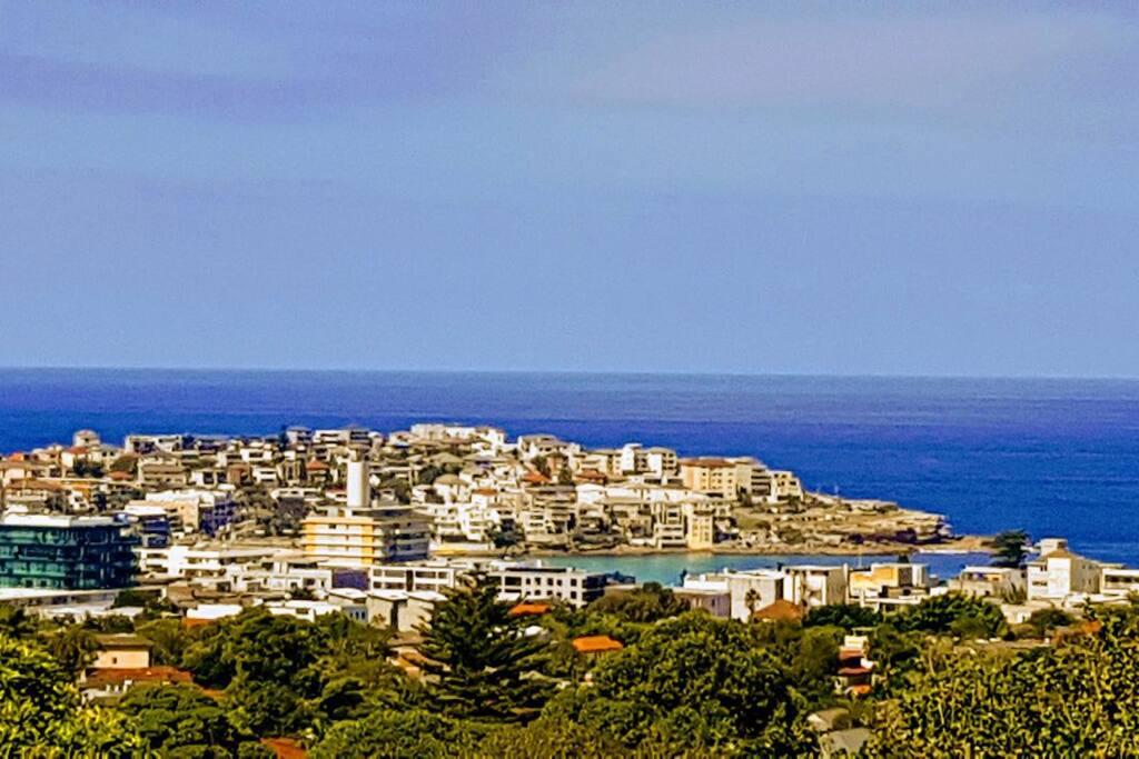 View from balcony to Bondi Beach