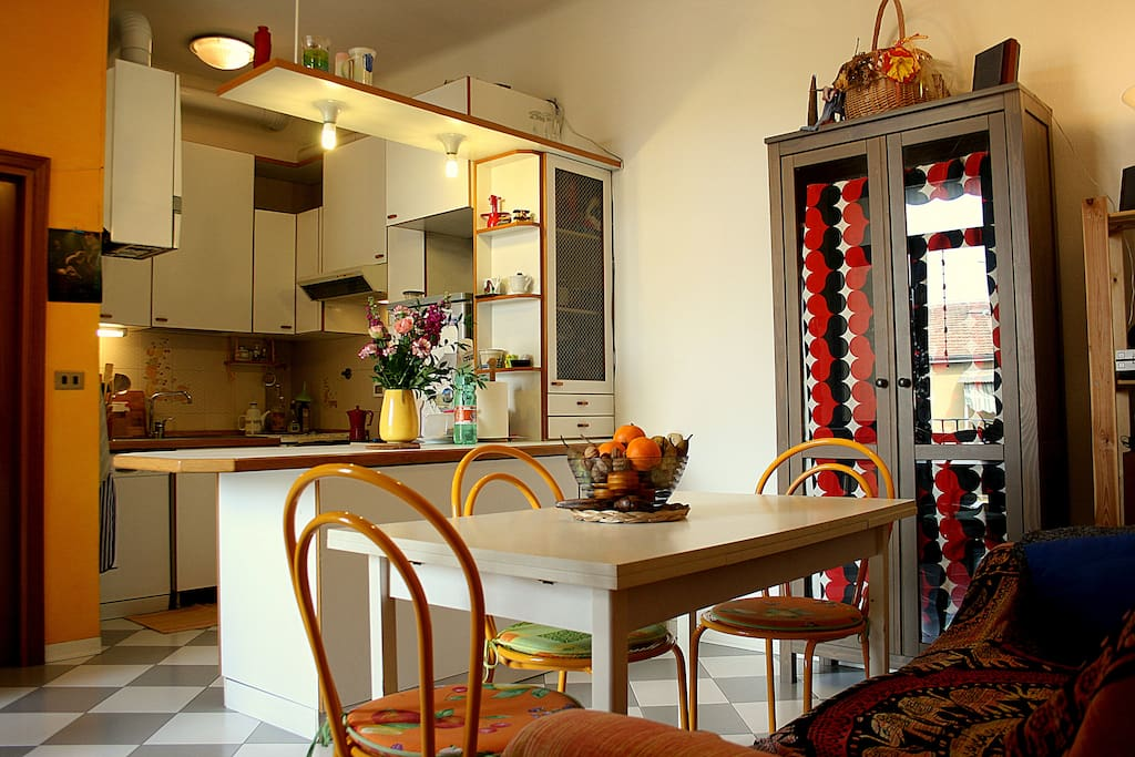 The kitchen/living room, charming and full of light!