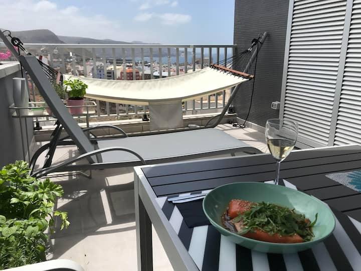 Fancy loft ocean views