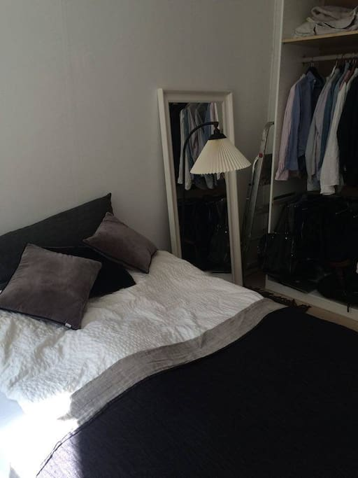 Bed and closet
