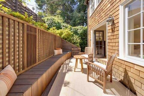 宽敞的花园度假屋, 1间卧室,带独立入口