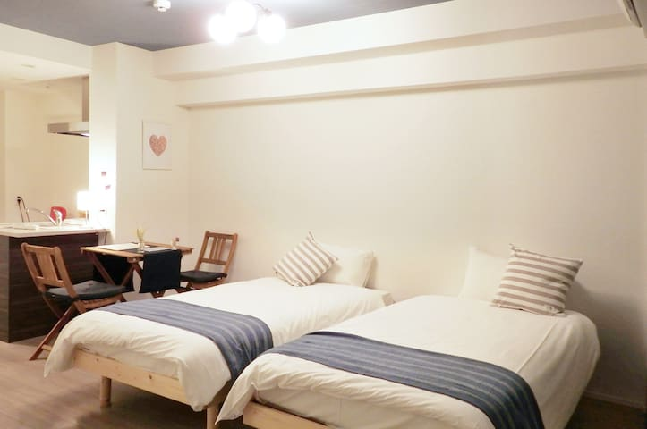 2 single size beds